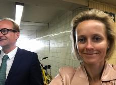 Opening liften van de Kennedyfietstunnel